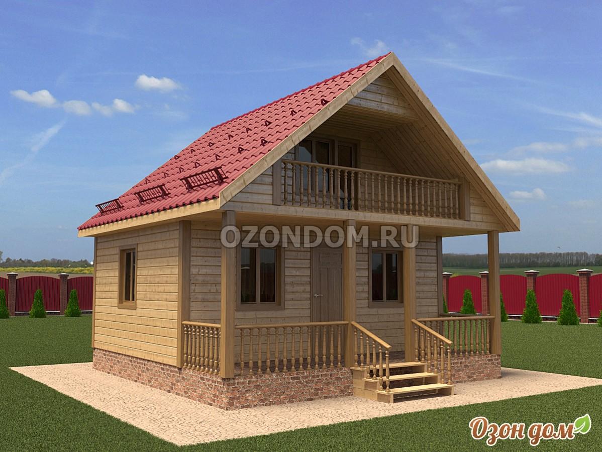 Каркасный дом с балконом 6 на 6 великие луки, цена строитель.