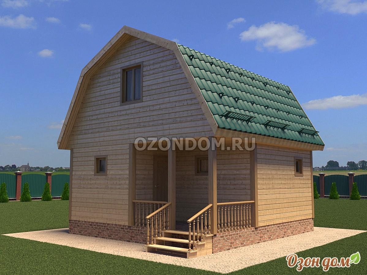 Каркасная дом 6х6 с мансардой своими руками
